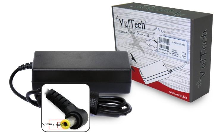 Alimentatore Vultech AC19474A-312 per Acer 5.5x1.7mm 90W 19V 4.74A