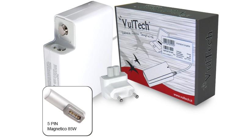 Alimentatore Vultech AP18546Z-218 Per Apple Con 5 Pin Magnetico 85W 18.5V 4.6A