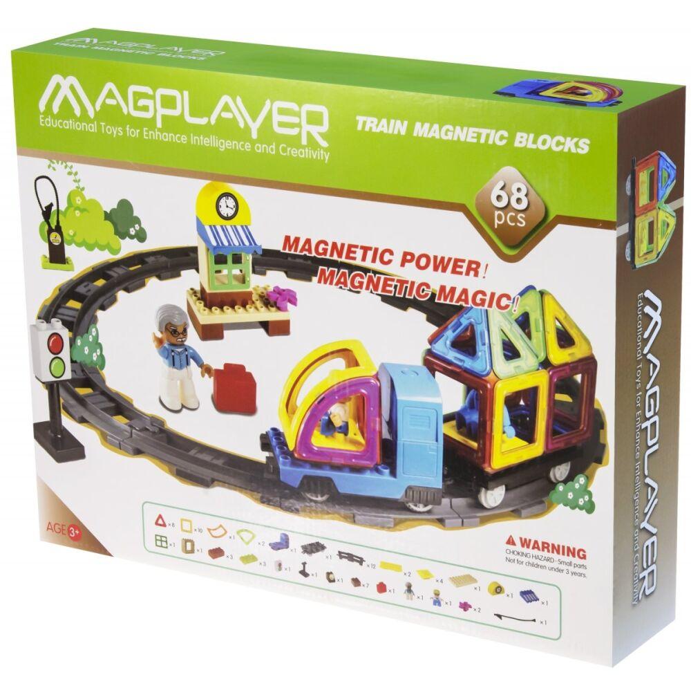 Costruzioni Magnetiche Magplayer MPT-68 Train Set da 68 Pezzi