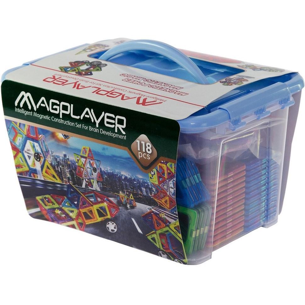 Costruzioni Magnetiche Magplayer MPT-118 Educational Set da 118 Pezzi
