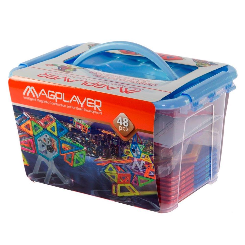 Costruzioni Magnetiche Magplayer MPT-64 Educational Set da 64 Pezzi