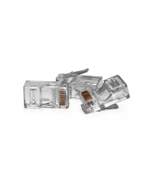 Net - Vultech Plug Rj45 Connettori Trasparenti conf. 50pz
