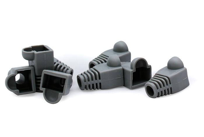 Net - Vultech Copri Plug Gommini Rj45 Confezione 50 Pezzi Color Gray