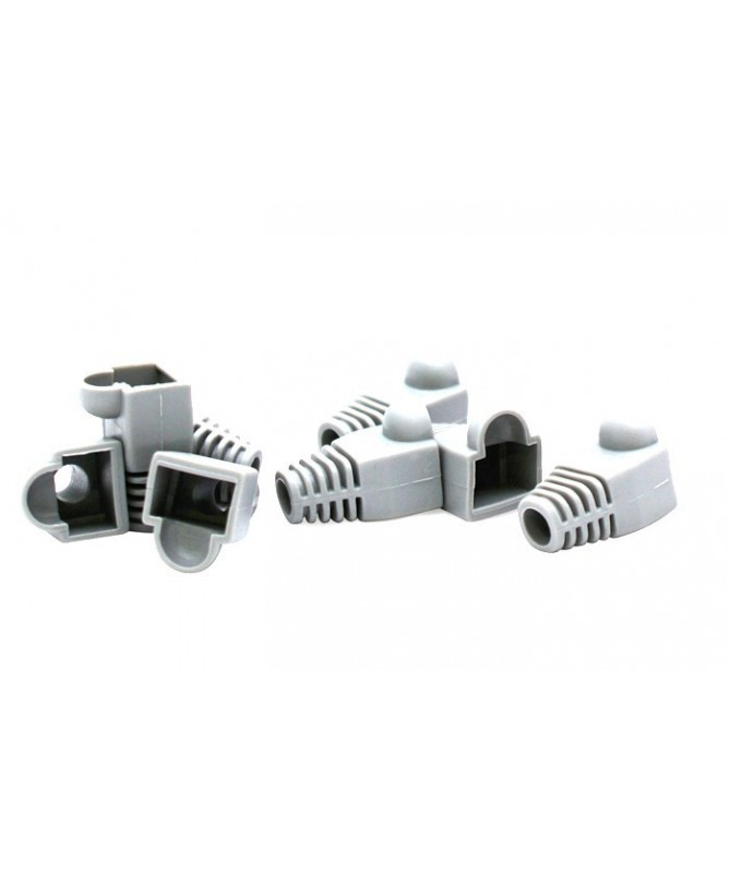 Net - Vultech Copri Plug Gommini Rj45 Confezione 50 Pezzi Color White