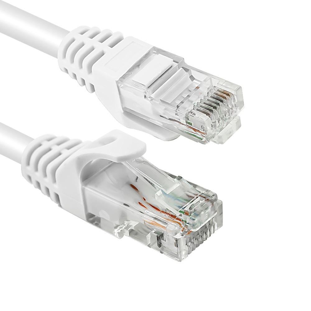 Cavo di Rete Ethernet Vultech UTP TAAU020-UTP-WH Categoria 6 24AWG 200 Cm 2Mt Bianco